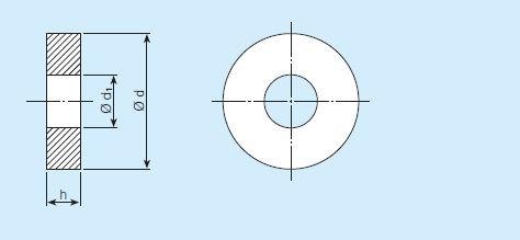 Disque poreux percé / anneau - SIKA-B