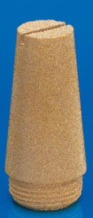 Silencieux bronze fritté avec fente tournevis