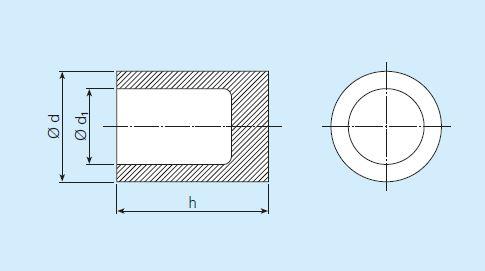 Cylindre poreux avec un fond poreux fermé - SIKA