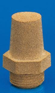 Silencieux bronze fritté avec hexagone fritté